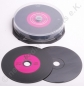 Mobile Preview: CD-R 700 MB Carbon in Vinyloptik, Label: farbig