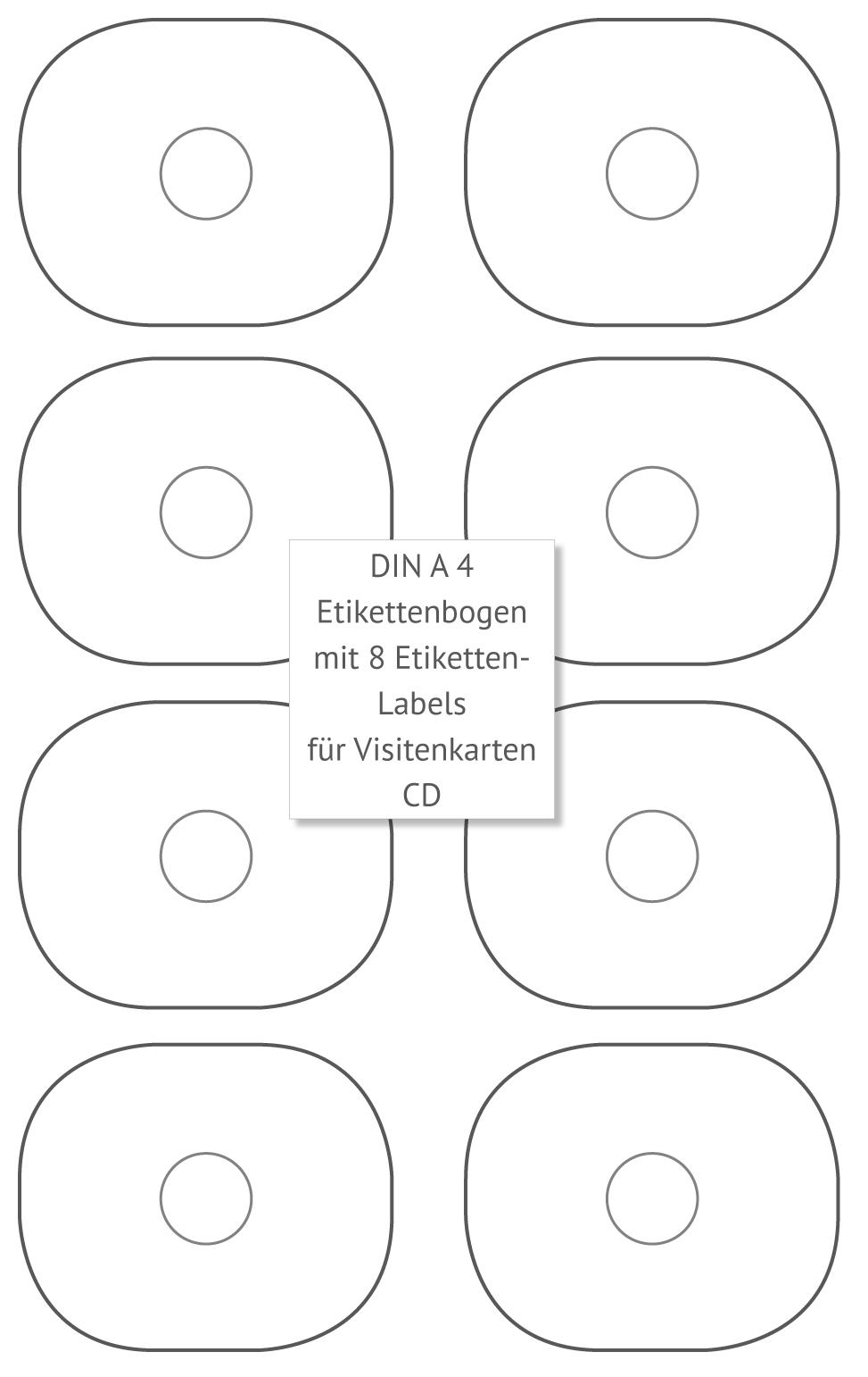 Etikettenbogen Für Visitenkarten Cd Restposten