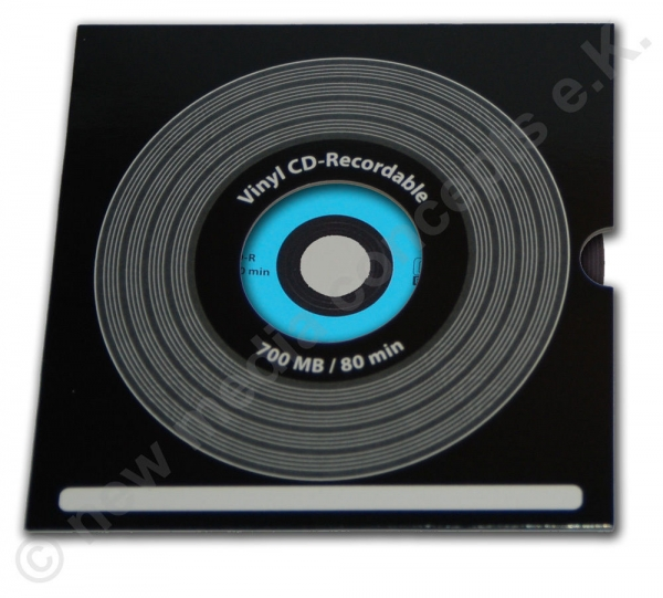 CD-R 700 MB Carbon in Vinyloptik, Label: farbig